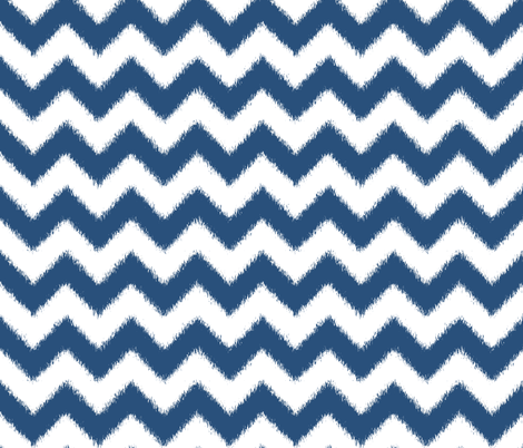 Navy Blue Chevron Ikat fabric by pearl&phire on Spoonflower - custom fabric