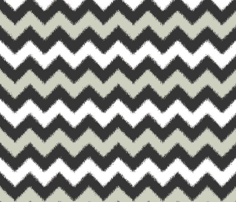 Ikat Chevron in Black, White and Gray fabric by fridabarlow on Spoonflower - custom fabric