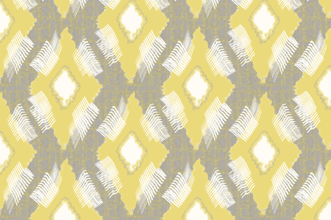 Ikat Diamond Citron fabric by lulabelle on Spoonflower - custom fabric