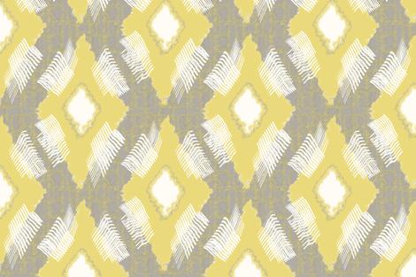 Ikat Diamond Citron fabric by lulabelle on Spoonflower - custom fabric