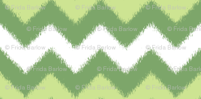 Spring Green Chevron Ikat