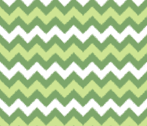 Spring Green Chevron Ikat fabric by fridabarlow on Spoonflower - custom fabric