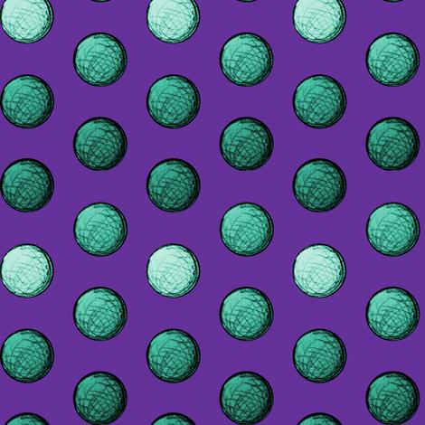 Teal Spheres fabric by pond_ripple on Spoonflower - custom fabric