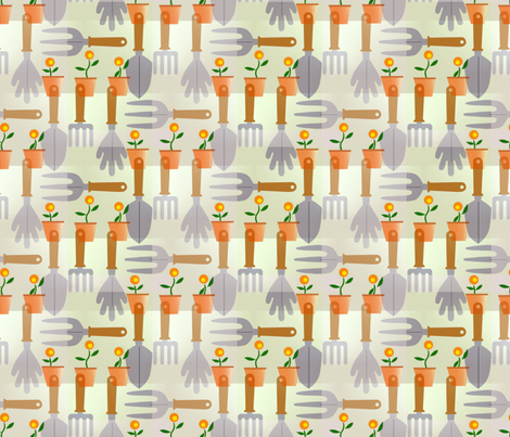 Gardening_tools fabric by alfabesi on Spoonflower - custom fabric