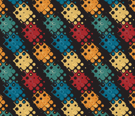 retro abstract fabric by kociara on Spoonflower - custom fabric