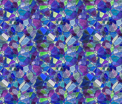blue and purple fabric by kociara on Spoonflower - custom fabric