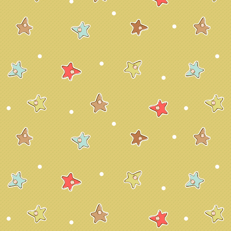 Star Babies SAGE fabric by puddlefoot on Spoonflower - custom fabric