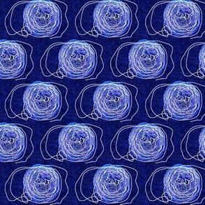 Blue Yarn Dots
