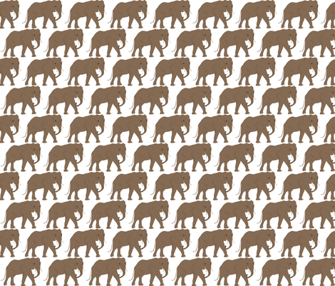 Elephant fabric by terriaw on Spoonflower - custom fabric