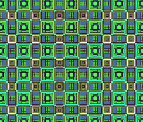 Polymer Clay Pattern- blue and green  fabric by koalalady on Spoonflower - custom fabric
