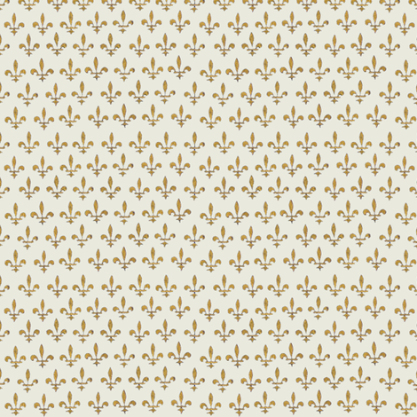 cream fleurs du lis (très riches heures) fabric by mossbadger on Spoonflower - custom fabric