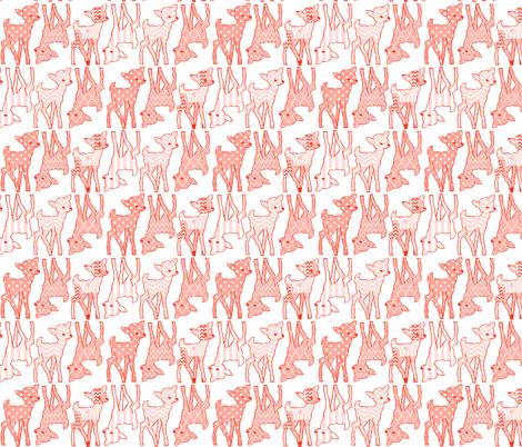 Two Way Peach Deer fabric by vintagegreenlimited on Spoonflower - custom fabric