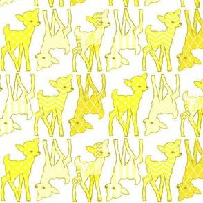 Two Way Lemon Zest Yellow Deer