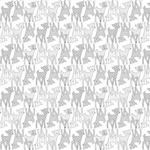 Two Way Grey Deer