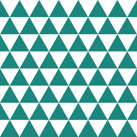 teal triangles fabric by dennisthebadger on Spoonflower - custom fabric