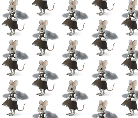 welcome to my mouse  fabric by mezzime on Spoonflower - custom fabric