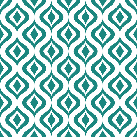 teal retro diamonds fabric by dennisthebadger on Spoonflower - custom fabric