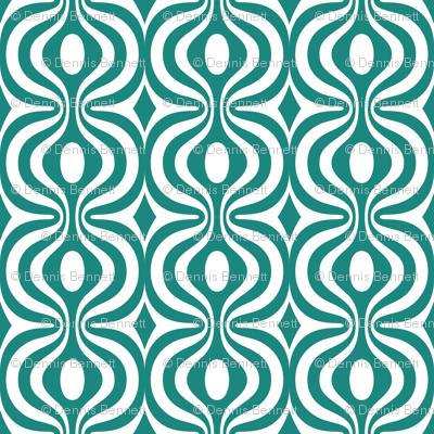 teal vintage pattern 2