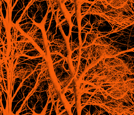 The Tree Lace ~ Halloween fabric by peacoquettedesigns on Spoonflower - custom fabric