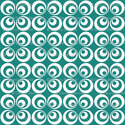 teal retro circles