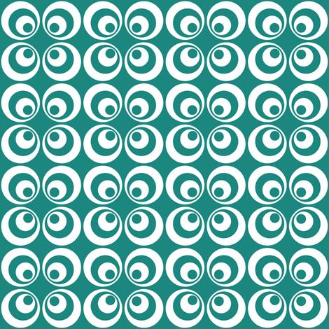 teal retro circles fabric by dennisthebadger on Spoonflower - custom fabric