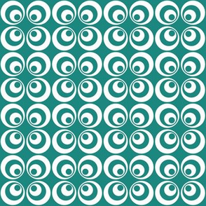 teal retro circles