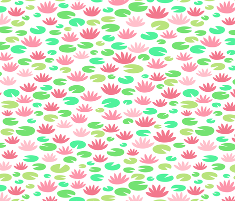 water lilies fabric by dennisthebadger on Spoonflower - custom fabric