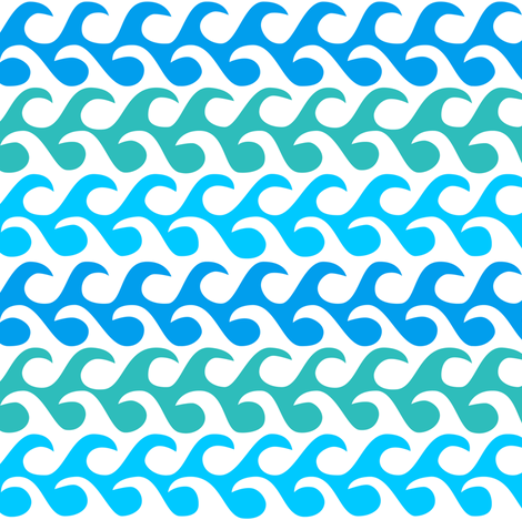 waves  fabric by dennisthebadger on Spoonflower - custom fabric