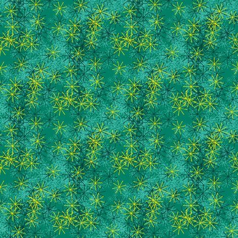Emerald Scatter fabric by siya on Spoonflower - custom fabric