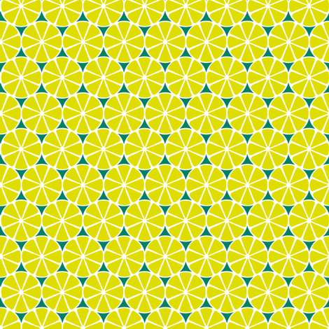 Lime Slices fabric by siya on Spoonflower - custom fabric