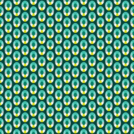 Emerald Dots fabric by siya on Spoonflower - custom fabric