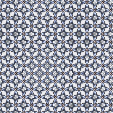 Kojiro's Blueflower Grid fabric by siya on Spoonflower - custom fabric