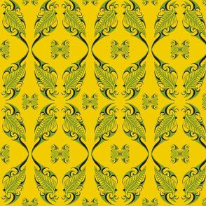 Tribal Leaves-green/yellow