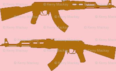 guns pinky pink brown