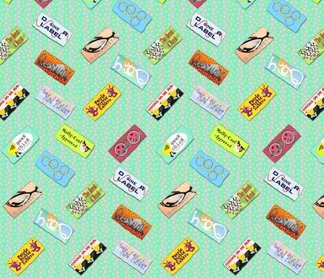 designer labels for geek chix chevronic fabric by glimmericks on Spoonflower - custom fabric