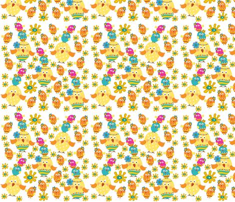 EGGCITED_002 fabric by deeniespoonflower on Spoonflower - custom fabric