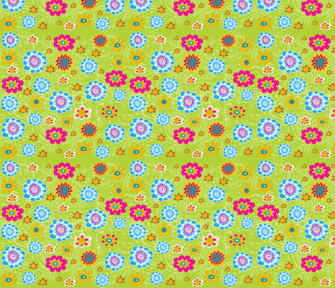 EGGCITED_FLOWER_TOSS_002 fabric by deeniespoonflower on Spoonflower - custom fabric
