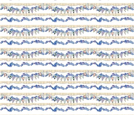 Hydrangea Garland fabric by karenharveycox on Spoonflower - custom fabric
