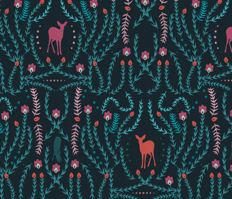woodland treasures fabric by annaboo on Spoonflower - custom fabric