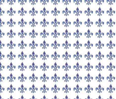 Hydrangea fleur di lis fabric by karenharveycox on Spoonflower - custom fabric