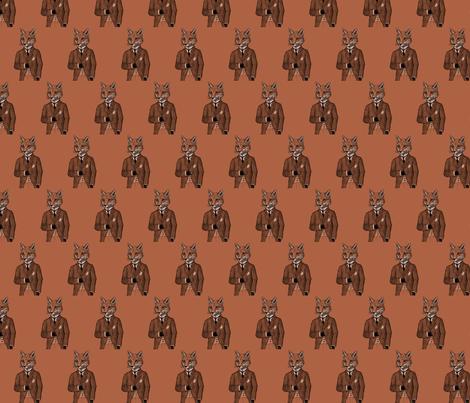 Dapper Mr.Fox fabric by deathpony on Spoonflower - custom fabric