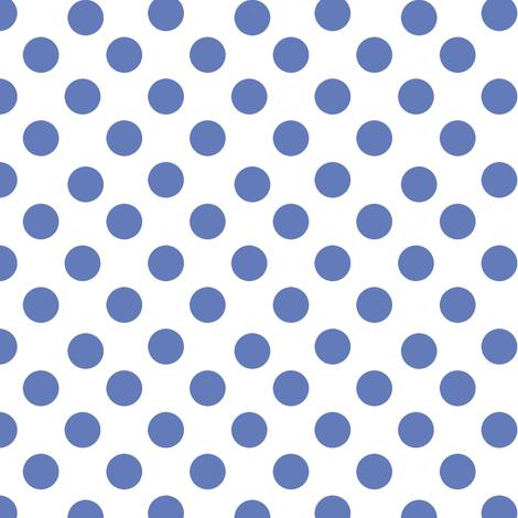 French Hydrangea BluePolka Dots fabric by karenharveycox on Spoonflower - custom fabric
