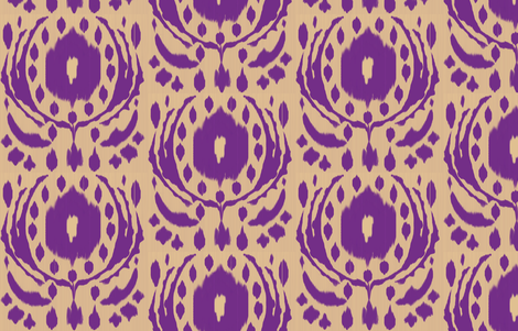 Ikat Flower - Purple fabric by fable_design on Spoonflower - custom fabric