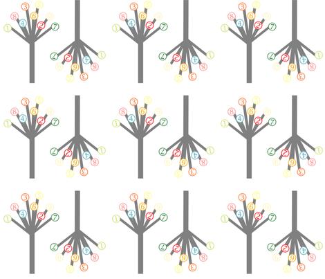 Geek Type Blooms fabric by vintagegreenlimited on Spoonflower - custom fabric