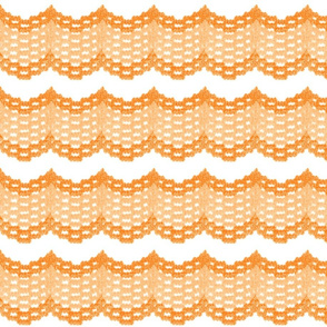 Vintage Orange Ruffles