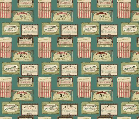 Sarah Wilson Signs fabric by lana_gordon_rast_ on Spoonflower - custom fabric