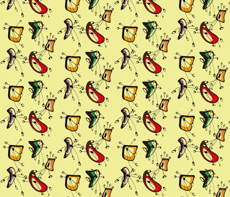 New droids fabric by retroretro on Spoonflower - custom fabric