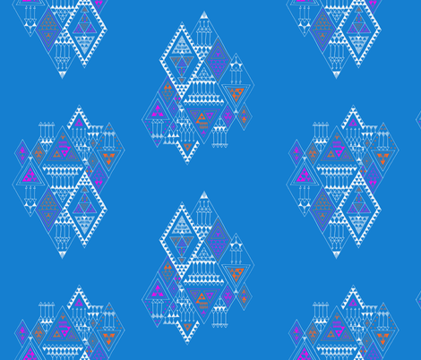 triangle puzzle fabric by randomarticle on Spoonflower - custom fabric