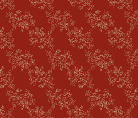 Sarah_Wilson_Toile_Red fabric by lana_gordon_rast_ on Spoonflower - custom fabric