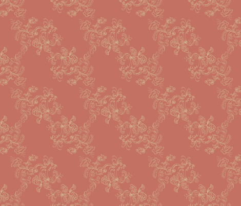 Sarah_Wilson_Toile_Terra_Cotta fabric by lana_gordon_rast_ on Spoonflower - custom fabric